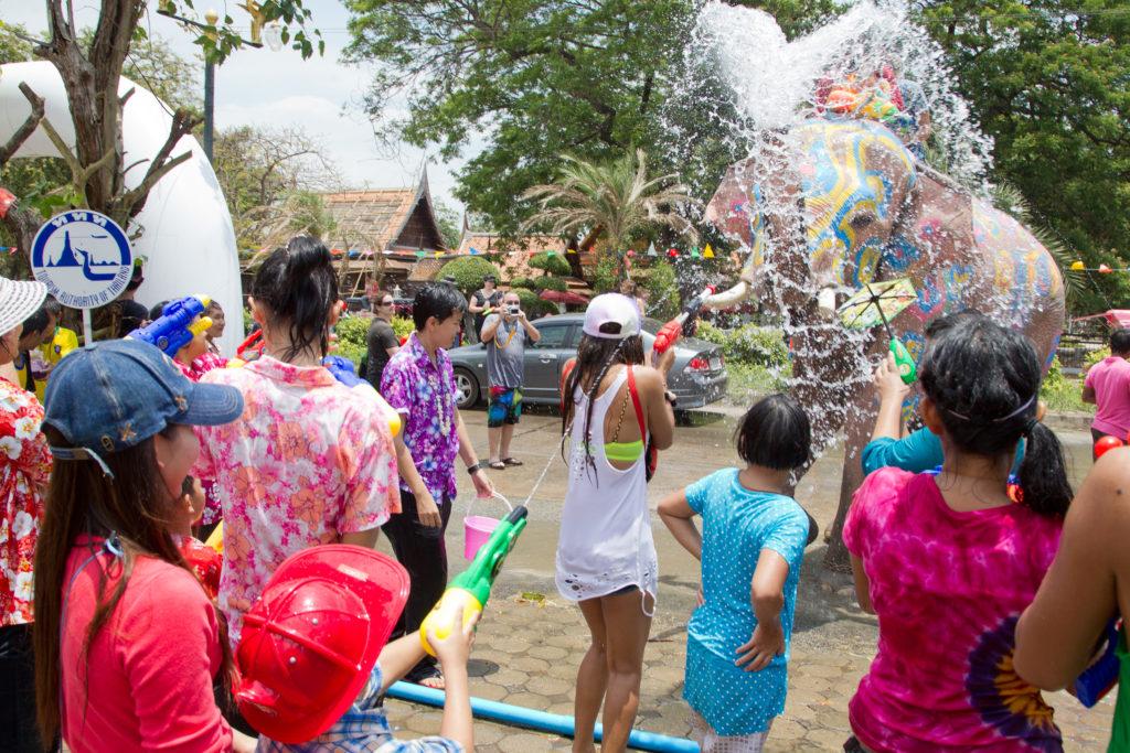 Songkran à Ayutthaya, Ayuttaya Province, Thailand