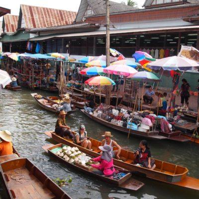 Le marché de Damnoen Saduak